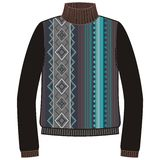 Winter warm tribal jumper for knit handmade native american navajo, sweatshirt  Royalty Free Stock Photo
