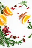 Winter warmer drink background Royalty Free Stock Image