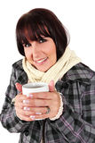 Winter warming cup of coffee Royalty Free Stock Photo