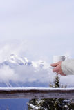 Winter warmth. Winter in the mountains Stock Photos