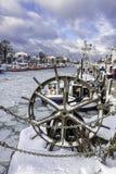 Winter in Warnemuende Stock Images