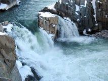 Winter-Wasserfälle stockfotografie