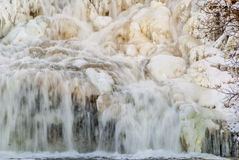 Winter Water Falls Stock Photo