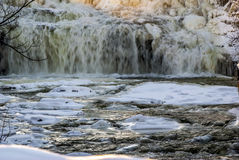 Winter Water Falls Stock Images