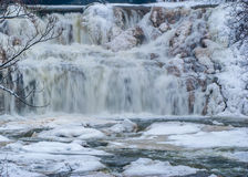 Winter Water Falls Stock Image