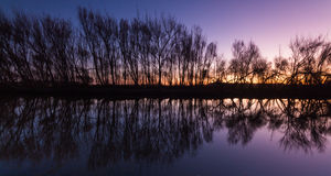 Winter Water Reflection Stock Photos