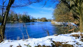 Winter, Water, Snow, Reflection royalty free stock images
