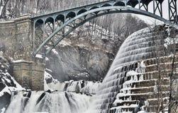 Winter water. Waterfall upstate New York Stock Photography