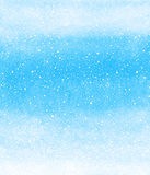 Winter watercolor background with falling snow splash texture. Winter watercolor gradient background with falling snow splash texture. Christmas, New Year hand stock illustration