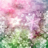 Winter watercolor background with snowflakes Royalty Free Stock Photo
