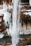 Winter waterfall Stock Photography