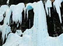 Winter waterfall Stock Photo