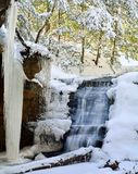 Winter Waterfall at Hocking Hills Royalty Free Stock Photography