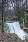 Winter Waterfall. Hoggs Falls on a chilly spring day Royalty Free Stock Photo