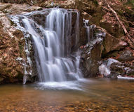 Winter waterfall and ice Stock Images