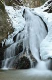 Winter waterfall landscape. With frozen water detail Royalty Free Stock Images