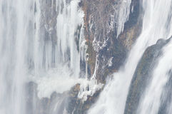 Winter waterfall landscape Royalty Free Stock Images
