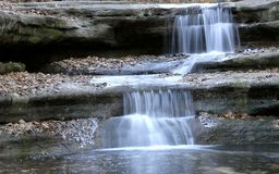 Winter waterfalls. Starved Rock State Park, IL. USA. December royalty free stock photo