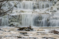 Winter Waterfalls Stock Photography