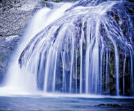 Winter waterfalls in mountains. Royalty Free Stock Images