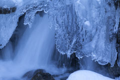 Winter Waterfalls Stock Images