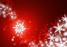 Winter Waves. Swirls of snowflakes on a red background Stock Image
