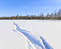 Winter way Royalty Free Stock Images
