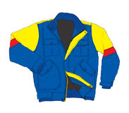 Winter Wear Fashion - Casual Jacket Vector Illustration Royalty Free Stock Photo