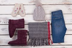 Winter wear for teenage girls Stock Photography