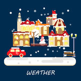 Winter weather banner Stock Image