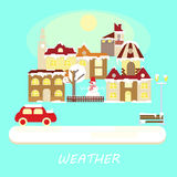 Winter weather colorful landscape banner Stock Image