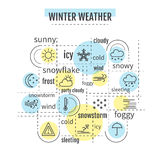 Winter weather infographic Stock Photography