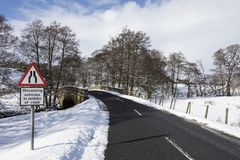 Winter weather in the North Yorkshire - England Stock Images