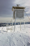 Winter weather station Royalty Free Stock Photography