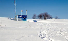 Winter Weather Station Royalty Free Stock Image