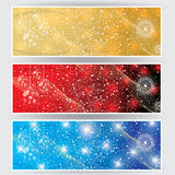 Winter web banners 3 colors Royalty Free Stock Images