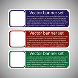 Winter web banners 3 colors Royalty Free Stock Photos