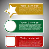 Winter web banners 3 colors Stock Image