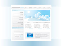 Winter web template Stock Images