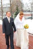 Winter wedding Stock Photo