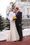 Winter wedding Royalty Free Stock Photos