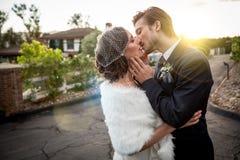 Winter wedding Stock Images