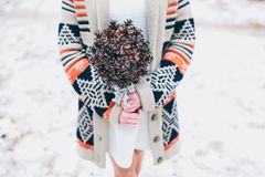 Winter wedding bouquet Royalty Free Stock Photography