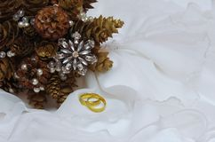 Winter wedding bouquet for the bride Stock Photography