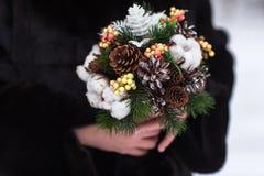 Winter wedding bouquet Stock Photos
