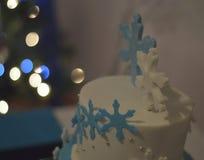 Winter Wedding Cake Topper Stock Image