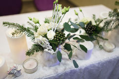 Winter Wedding decor. Royalty Free Stock Images