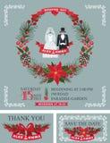 Winter  wedding invitation set.Wedding wear, Royalty Free Stock Photo