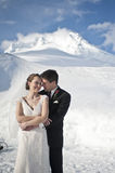Winter wedding in the snow Royalty Free Stock Photo