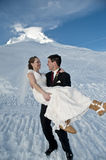 Winter wedding in the snow Stock Photography